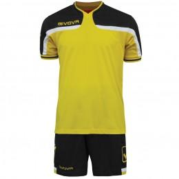 Футбольная форма Givova Kit America черно-желтая KITC47.0710
