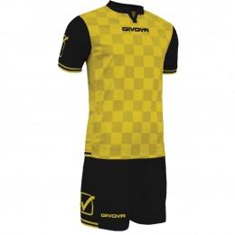 Футбольная форма Givova Kit Competition черно-желтая KITC45.0710