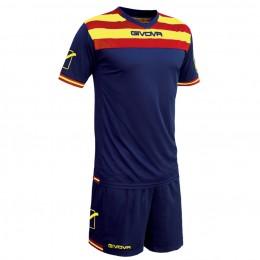 Футбольная форма Givova Kit Curva синяя KITC40B.0712