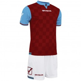 Футбольная форма Givova Kit Competition бордово-белая KITC45.0805