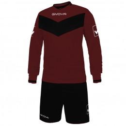 Футбольная форма Givova Kit Olimpia бордово-черная KITT44.0810