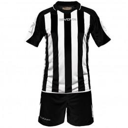 Футбольная форма Givova Kit Supporter черно-белая KITC24.1003