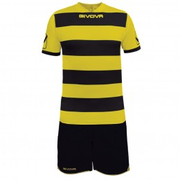 Футбольная форма Givova Kit Rugby черно-желтая KITC42B.1007