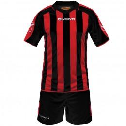 Футбольная форма Givova Kit Supporter красно-черная KITC24.1012