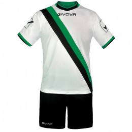 Футбольная форма Givova Kit Trasversal черно-белая KITC20.1013