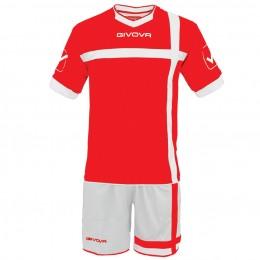 Футбольная форма Givova Kit Croce бело-красная KITC32.1203
