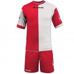 Футбольная форма Givova Kit Combo красно-белая KITC22.1203