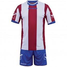 Футбольная форма Givova Kit Catalano красно-голубая KITC26.1203