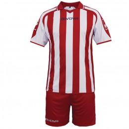 Футбольная форма Givova Kit Supporter красно-белая KITC24.1203
