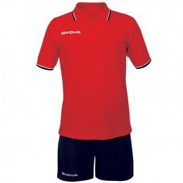 Футбольная форма Givova Kit Street красная KIT032.1204