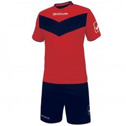 Футбольная форма Givova Kit Vittoria сине-красная KITT04.1204