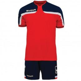 Футбольная форма Givova Kit America красно-синяя KITC47.1204