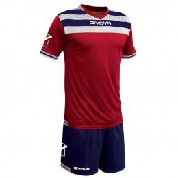 Футбольная форма Givova Kit Curva красно-синяя KITC40B.1204