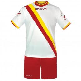 Футбольная форма Givova Kit Trasversal красно-белая KITC20.1207