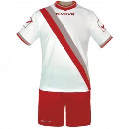 Футбольная форма Givova Kit Trasversal красно-белая KITC20.1209