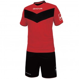 Футбольная форма Givova Kit Vittoria красно-черная KITT04.1210