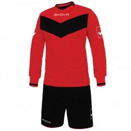 Футбольная форма Givova Kit Olimpia красно-черная KITT44.1210