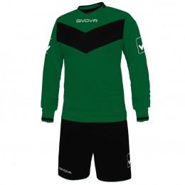 Футбольная форма Givova Kit Olimpia зелено-черная KITT44.1310