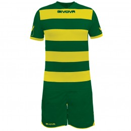 Футбольная форма Givova Kit Rugby желто-зеленая KITC42B.2607