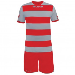 Футбольная форма Givova Kit Rugby красно-белая KITC42B.2712