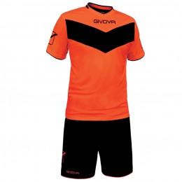 Футбольная форма Givova Kit Vittoria Fluo оранжевая флуоресцентная KITT05.2810