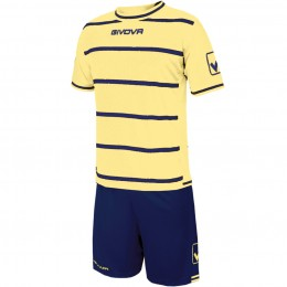 Футбольная форма Givova Kit Caos желто-синяя KITC41B.9804