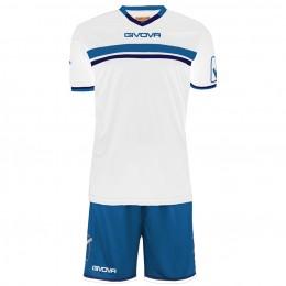 Футбольная форма Givova Kit Game бело-голубая KITC52.0302