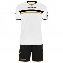 Футбольная форма Givova Kit Game черно-белая KITC52.0310