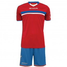 Футбольная форма Givova Kit Game красно-голубая KITC52.1202