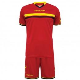 Футбольная форма Givova Kit Game красная KITC52.1207