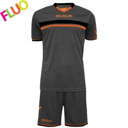 Футбольная форма Givova Kit Game серая KITC52.2301
