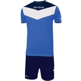 Футбольная форма Givova Kit Campo сине-голубая KITC53.0204