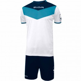 Футбольная форма Givova Kit Campo бело-синяя KITC53.0405