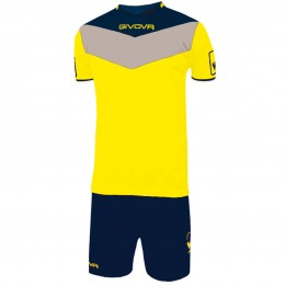 Футбольная форма Givova Kit Campo желто-синяя KITC53.0704