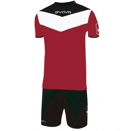 Футбольная форма Givova Kit Campo бордово-черная KITC53.0810