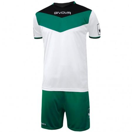 Футбольная форма Givova Kit Campo бело-зеленая KITC53.1013