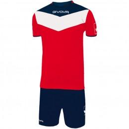 Футбольная форма Givova Kit Campo красно-синяя KITC53.1204