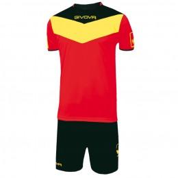 Футбольная форма Givova Kit Campo красно-черная KITC53.1207