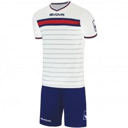 Футбольная форма Givova Kit Skill бело-синяя KITC54.0304