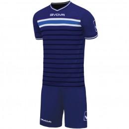 Футбольная форма Givova Kit Skill синяя KITC54.0405