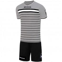 Футбольная форма Givova Kit Skill черно-серый KITC54.2710
