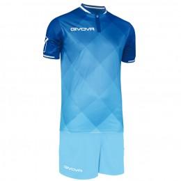 Футбольная форма Givova Kit Shade голубая KITC55.0205