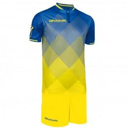 Футбольная форма Givova Kit Shade желто-голубая KITC55.0207