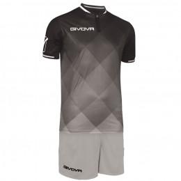 Футбольная форма Givova Kit Shade серо-черная KITC55.1009