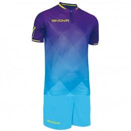 Футбольная форма Givova Kit Shade фиолетово-голубая KITC55.1424