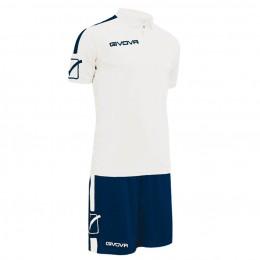 Футбольная форма Givova Kit Play бело-синяя KITC56.0304