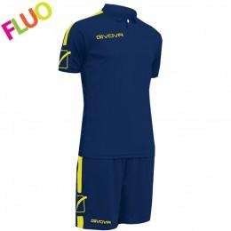 Футбольная форма Givova Kit Play синяя KITC56.0419