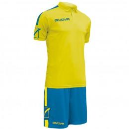 Футбольная форма Givova Kit Play желто-голубая KITC56.0702