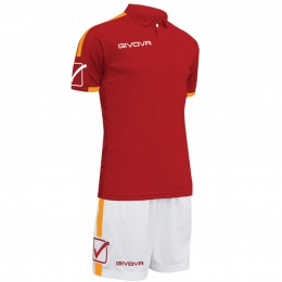 Футбольная форма Givova Kit Play бордо-белая KITC56.0801