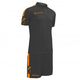 Футбольная форма Givova Kit Play черная KITC56.1028